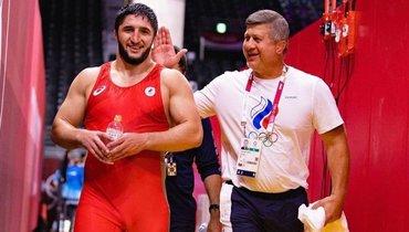 Дзамболат Тедеев (справа) идвукратный олимпийский чемпион Абдулрашид Садулаев. Фото Instagram