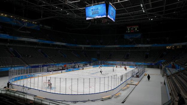 Хоккейная арена вПекине. Фото cgtn.com