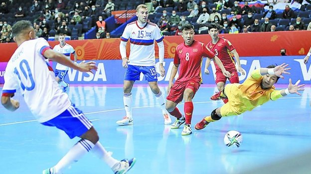 Россия— Вьетнам— 3:2. Обзор матча 1/8 финала чемпионата мира помини-футболу