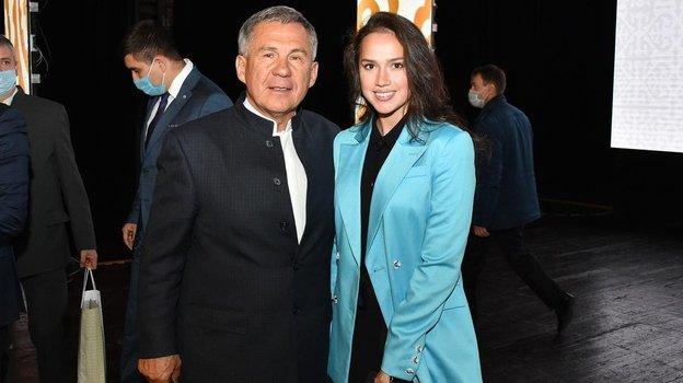 Алина Загитова с президентом Татарстана Рустамом Миннихановым. Фото Instagram