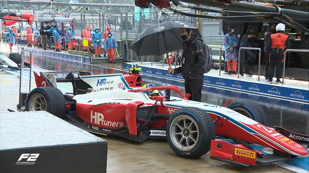 Болид лидера личного зачета «Формулы-2» Оскара Пиастри наавтодроме вСочи. Фото Twitter
