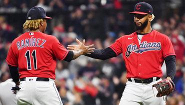 Бейсболисты команды «Кливленд Индианс». Фото USA Today Sports