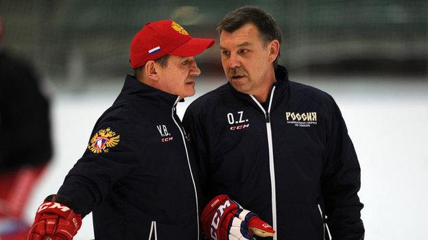 Валерий Брагин (слева) иОлег Знарок. Фото Алексей Иванов, «СЭ»