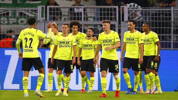 28сентября. Дортмунд. «Боруссия» Д— «Спортинг»— 1:0. Футболисты «Боруссии». Фото Reuters