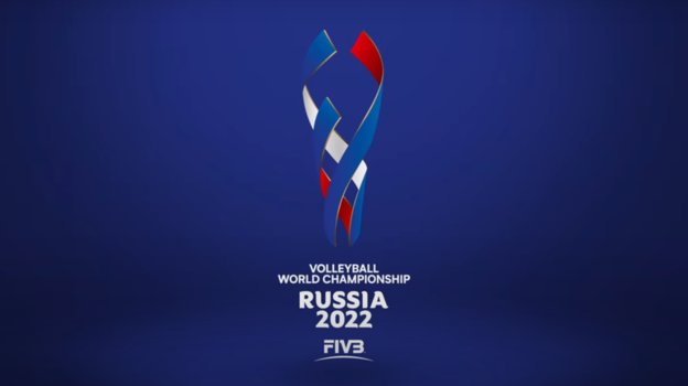 Логотип ЧМ-2022 поволейболу вРоссии.