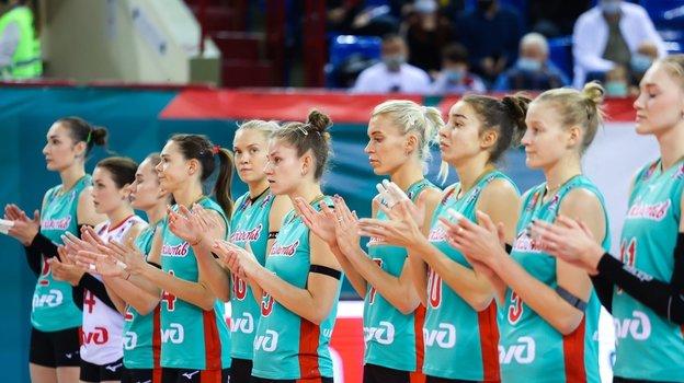 Волейболистки «Локомотива». Фото ВК «Локомотив», vk.com/vc.loko