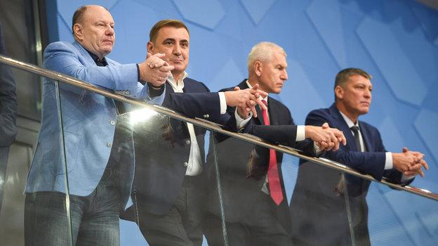 Владимир Потанин, Алексей Дюмин, Олег Матыцин.