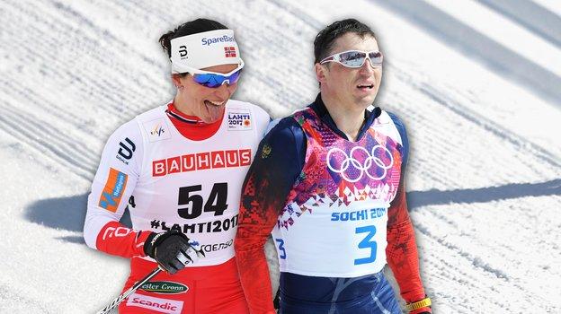 Марит Бьорген иАлександр Легков.