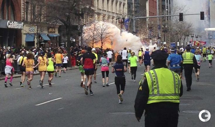 117-й Бостонский марафон завершился двумя взрывами.