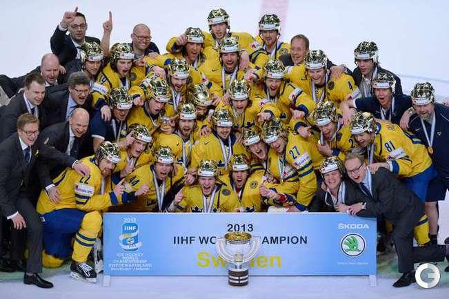 Сборная Швеции - чемпион мира по хоккею