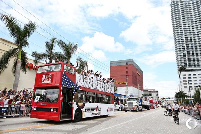 В Майами прошел чемпионский парад