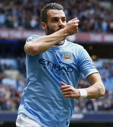 "Нападающий ""Манчестер Сити"" Альваро НЕГРЕДО. Фото REUTERS."