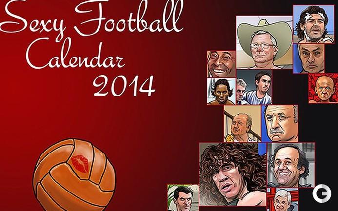 Сексуальный календарь на 2014 год от Telegraph.