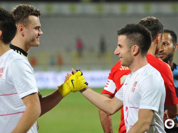 Ничья в матче Россия - Сербия