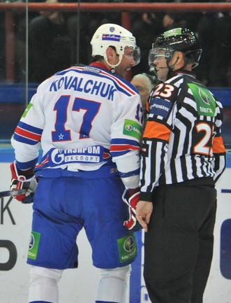 Ковальчук ругается с судьями в Сибири