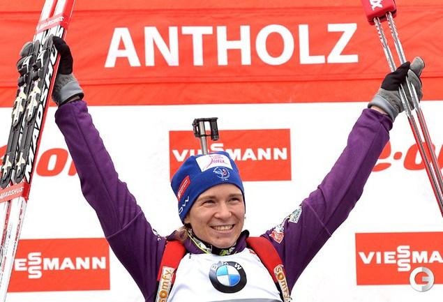Бескон выиграла спринт в Антерсельве, у Романовой пятое место
