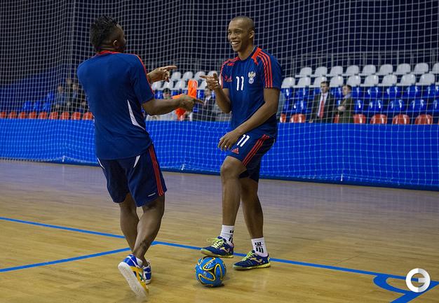 Тренировка сборной России по минифутболу