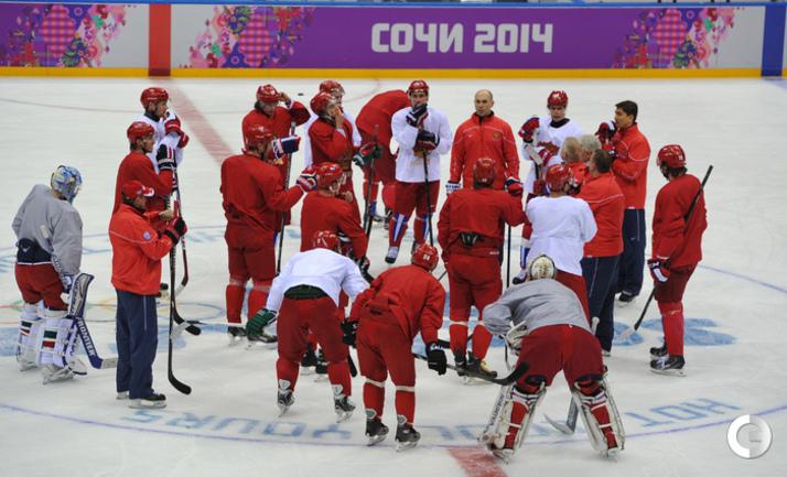 Первая тренировка сборной России в Сочи