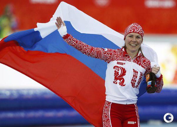 Ольга Граф - первая российская медалистка Олимпийских игр в Сочи