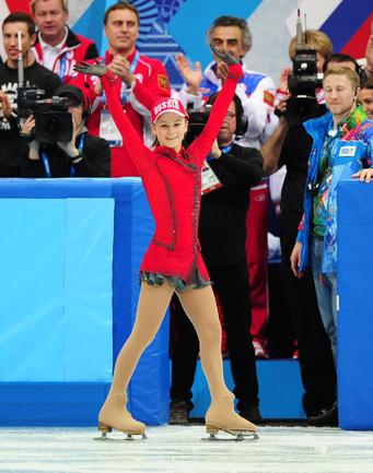 Липницкая - самая юная олимпийская чемпионка в истории России