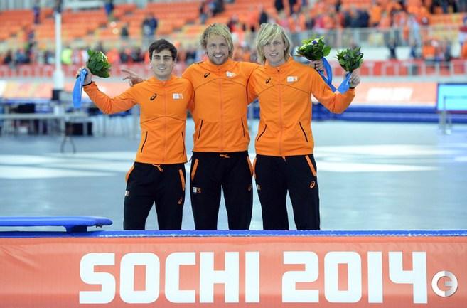 Голланцы заняли три первых места в коньках
