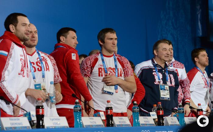 Пресс-конференция сборной России по хоккею