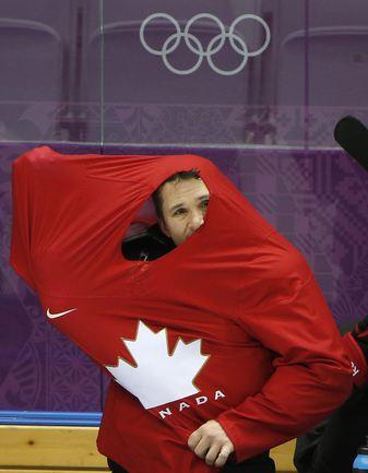 Тренировка сборной Канады по хоккею