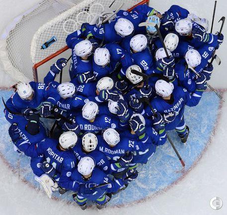 Хоккеисты Словении обыграли сборную Словакии