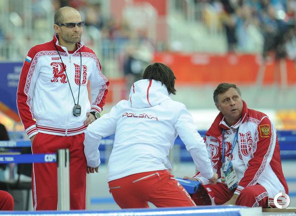 Константин Полтавец (слева) после победы поляка.
