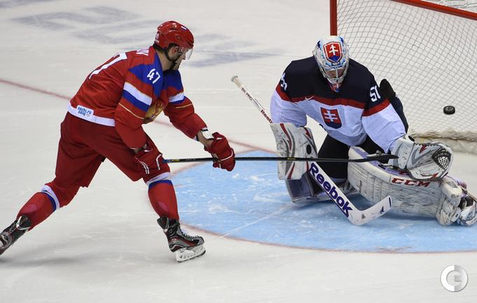 Сборная России победила Словакию в серии буллитов