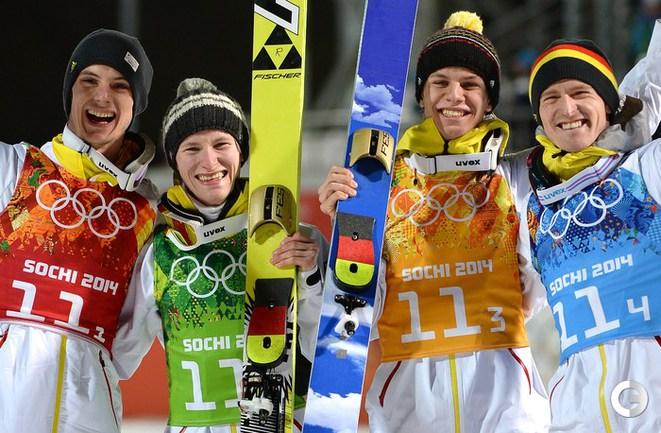 Германия - олимпийский чемпион в командных соревнованиях. Фото AFP