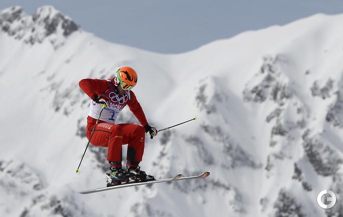 Полностью французский пьедестал в ски-кроссе