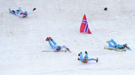 Сборная Норвегии стала победителем в командном двоеборье