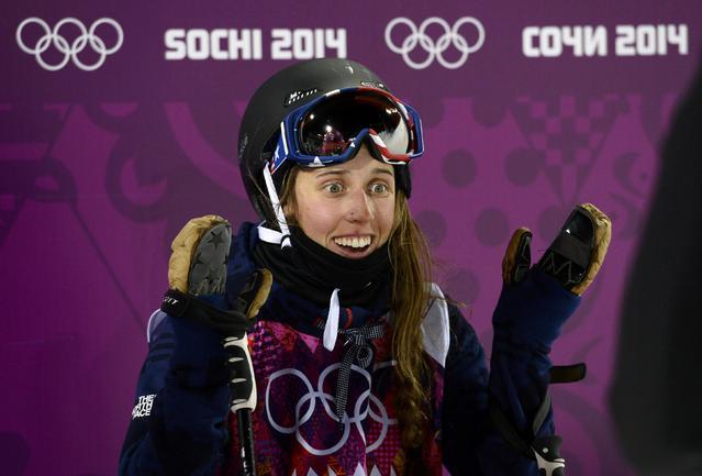 Олимпийская чемпионка - Мэдди БОУМЭН из США.