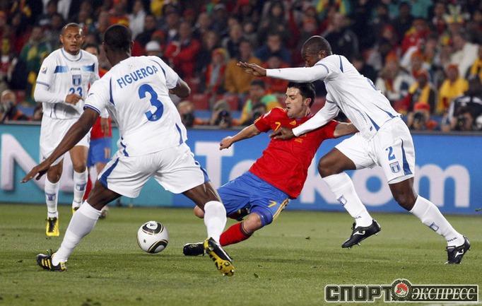 Испания 2:0 Гондурас. Давид Вилья(1).