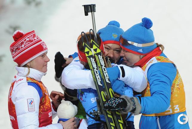 Россия - серебро в женской эстафете