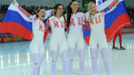Российские конькобежки выиграли бронзу