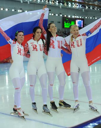 """Российские конькобежки выиграли бронзу Фото """"СЭ"""""""