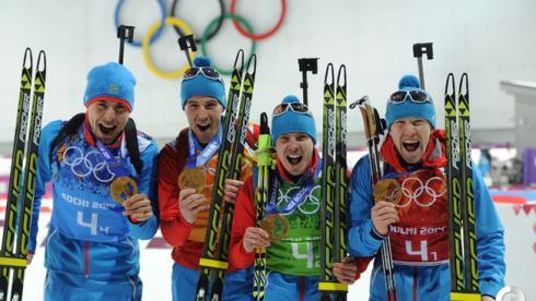 Золотая эстафета биатлонистов