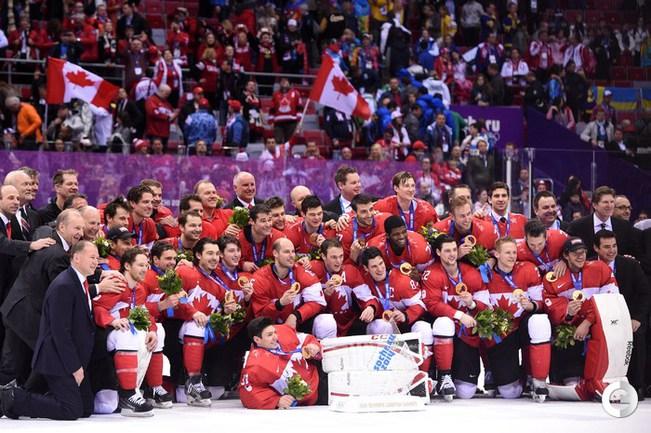 Хоккейная сборная Канады - победитель Олимпиады