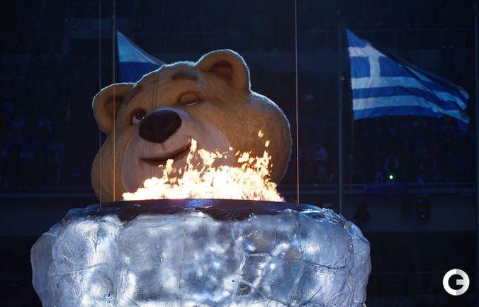 Церемония закрытия Олимпийских игр Сочи-2014.