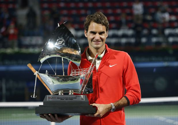 Роджер Федерер - победитель турнира в Дубае