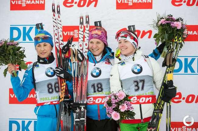 Слева направо: Дарья ВИРОЛАЙНЕН, Катарина ИННЕРХОФЕР и Надежда СКАРДИНО.