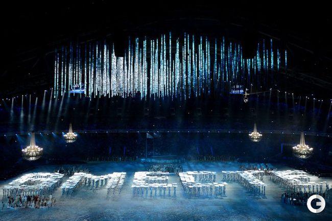Церемония открытия XI зимней Паралимпиады.
