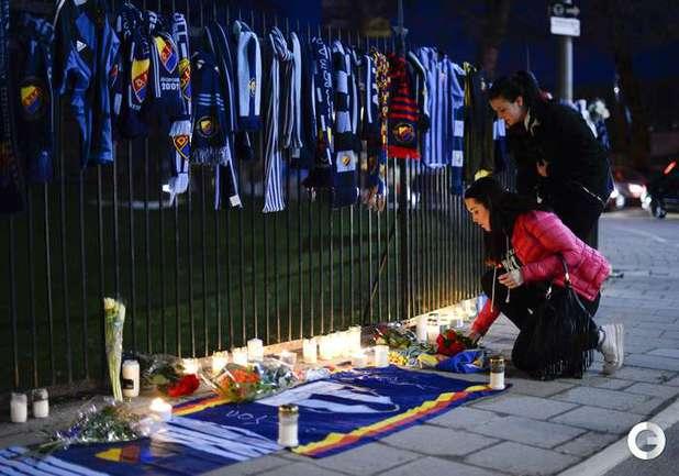 В Швеции поминают убитого футбольного болельщика