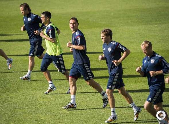 Тренировка сборной России в Осло