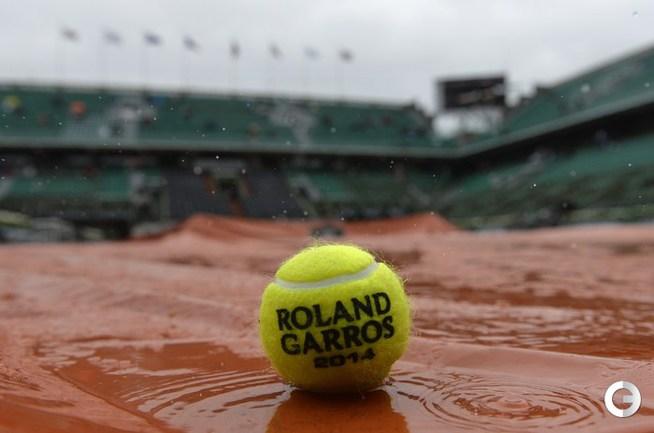 Дождь на Roland Garros