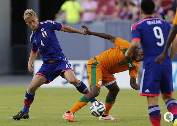 Дубль Хонды помог сборной Японии победить сборную Замбии