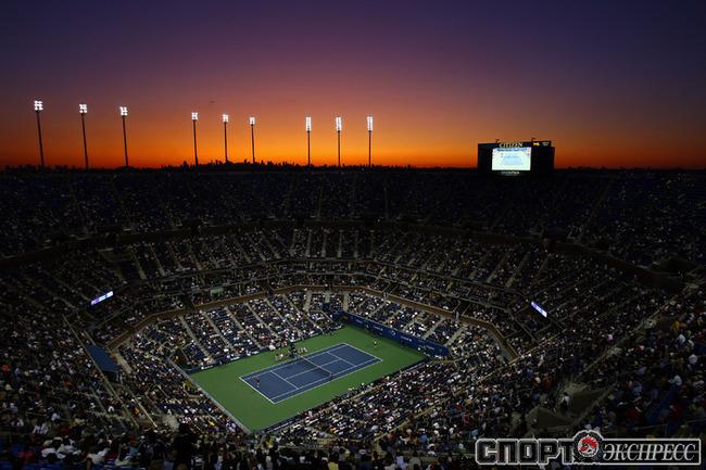 Вид на главную арену - корт имени Артура Эша. Фото AFP.