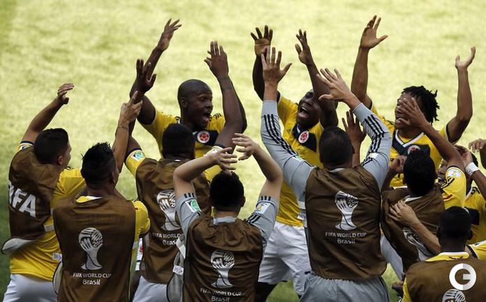 Колумбийцы отправили три мяча в ворота греков